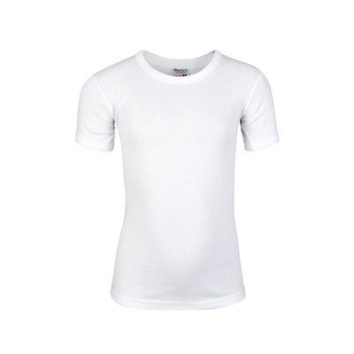 Jongens T-shirt met ronde hals en K.M. M3000 Wit
