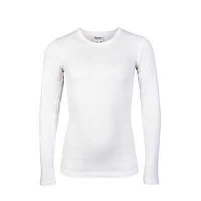Jongens T-shirt met ronde hals en L.M. M3000 Wit