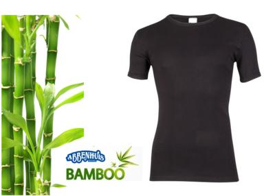Boru Bamboo heren T-shirt K.M. Zwart