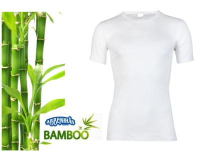 Boru Bamboo heren T-shirt K.M. Wit