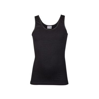 Meisjes hemd breed bandje Comfort Feeling Zwart