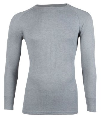 Unisex Thermo shirt met L.M. Grijs
