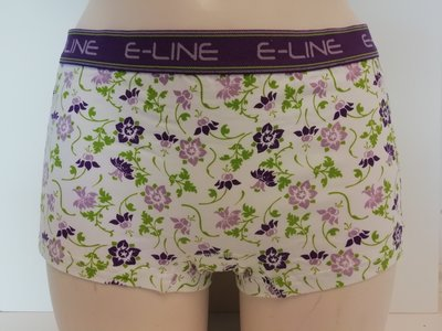 2-pack E-Line dames boxershort Paars/Bloem
