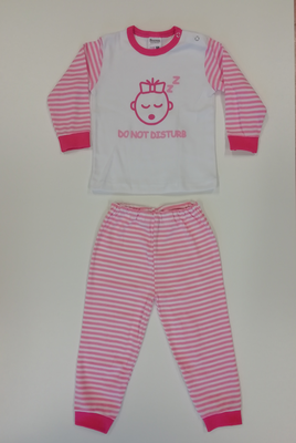 """Baby pyjama Beeren """"Do not Disturb"""" Roze"""