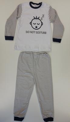"""Baby pyjama Beeren """"Do not Disturb"""" Grijs"""