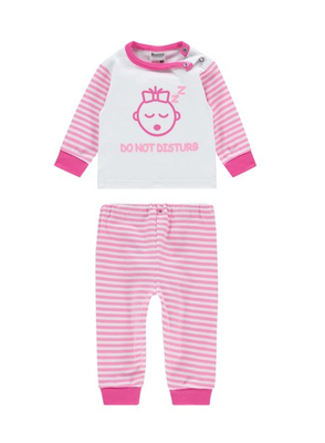 "Baby pyjama Beeren ""Do not Disturb"" Roze"