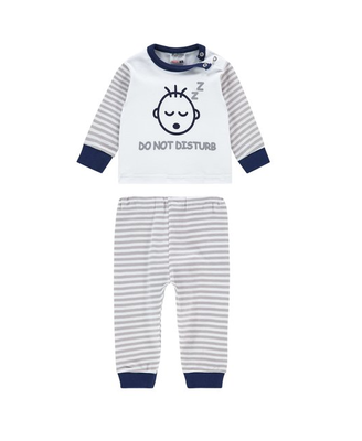 "Baby pyjama Beeren ""Do not Disturb"" Grijs"