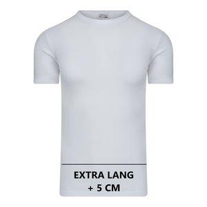 Extra lang heren T-shirt met O-Hals M3000 Wit