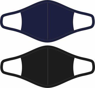Heren 2-Pack Mondkapjes Zwart/Donkerblauw maat L