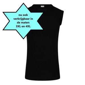 Heren mouwloos shirt met O-Hals M3000 Zwart