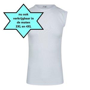 Heren mouwloos shirt met O-Hals M3000 Wit