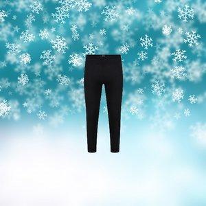 Unisex thermo pantalon Zwart
