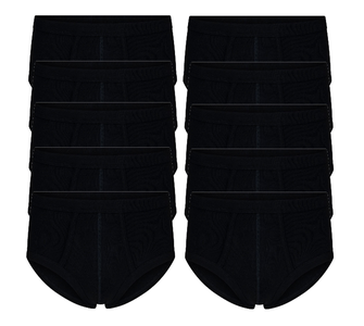 10-Pack heren slips M3000 Zwart