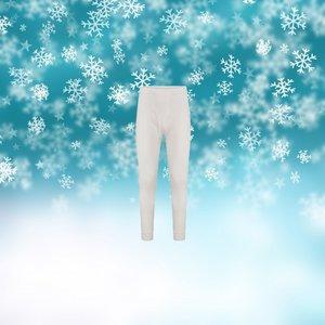 Thermo heren lange pantalon Wolwit