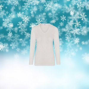 Thermo Dames shirt met L.M. Wolwit