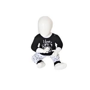 """Baby pyjama Beeren """"To the Moon"""" Zwart"""