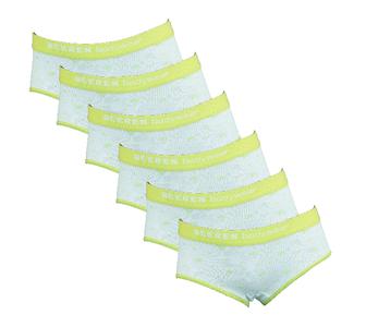 6-Pack meisjes slips Love Lime