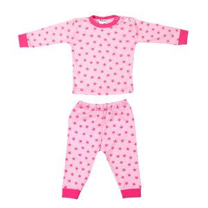 Baby Pyjama Stripe/Star Roze