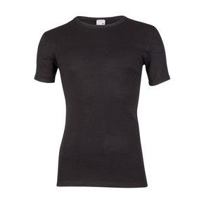 Heren T-shirt met ronde hals en K.M. M3000 Zwart