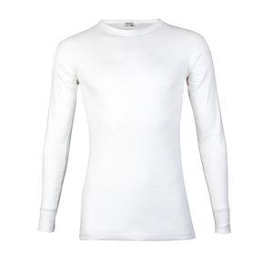 Heren T-shirt met ronde hals en L.M. M3000 Wit