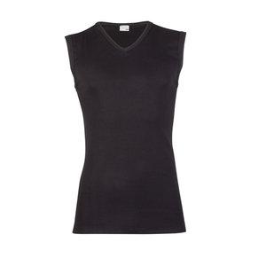 Heren mouwloos shirt met V-hals M3000 Zwart