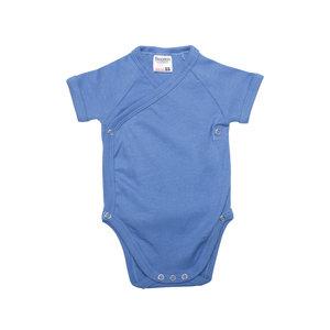 Baby overslag romper Blauw