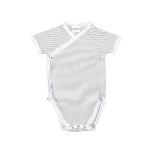 Baby overslag romper M401 Grijs/Wit