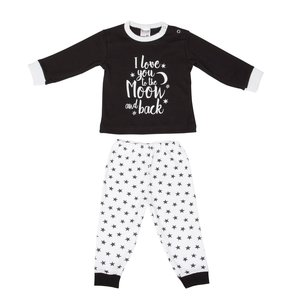 "Baby pyjama Beeren ""To the Moon"" Zwart"