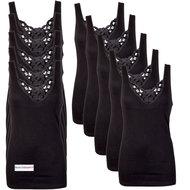 10-pack Dames hemden Viola Zwart