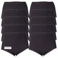 10-pack-Dames-tailleslips-(Maxi)-Briljant-Zwart